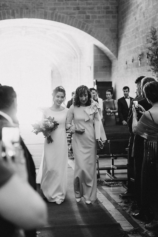 llegada de la novia a iglesia